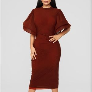 Fashion nova red wine dress